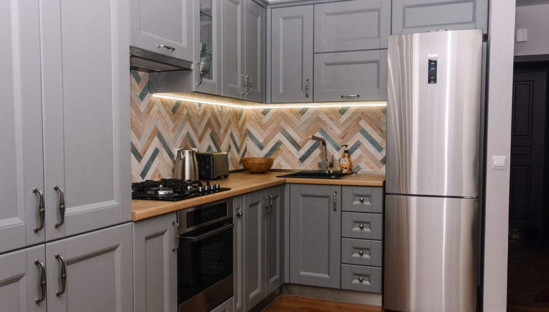 Современная кухня для для квартиры-студии