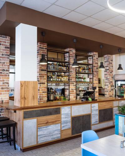 Мебель в стиле лофт для кафе «Тарелка»